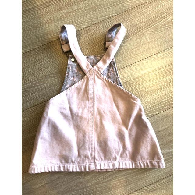 ZARA KIDS(ザラキッズ)のZARA BABY ザラ ベイビー ツイルデニム ジャンパースカート キッズ/ベビー/マタニティのベビー服(~85cm)(ワンピース)の商品写真