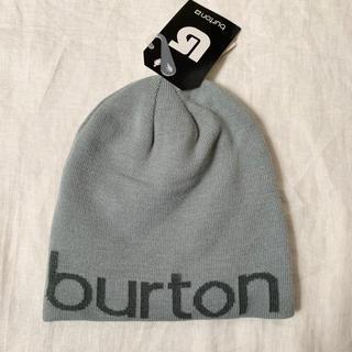 バートン(BURTON)のburton ビーニー レディース グレー ニット帽 キャップ スノボ 帽子(ニット帽/ビーニー)