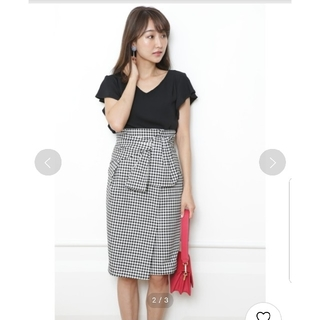 ジャスグリッティー(JUSGLITTY)のJUSGLITTY ギンガムチェック スカート ジャスグリッティー 日本製(ひざ丈スカート)