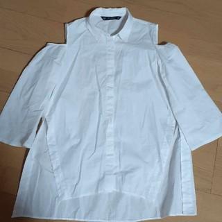 ZARA - ZARA 肩空きシャツ ブラウス