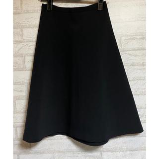 ドゥーズィエムクラス(DEUXIEME CLASSE)のドゥーズィエム クラス トリアセ ボンディング フレアスカート ブラック 34(ひざ丈スカート)
