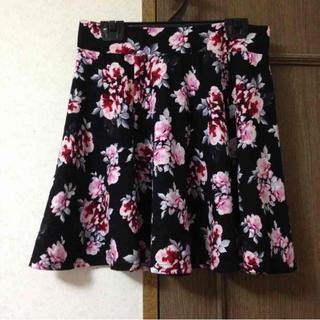 エイチアンドエム(H&M)のH&M 花柄スカート(ミニスカート)