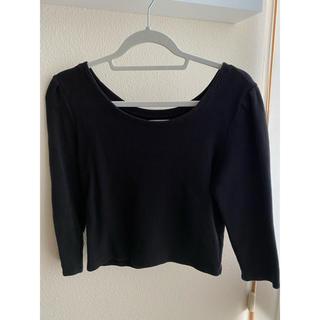 ミスティック(mystic)のmystic ☻ 七分袖 Tシャツ 黒(Tシャツ(長袖/七分))