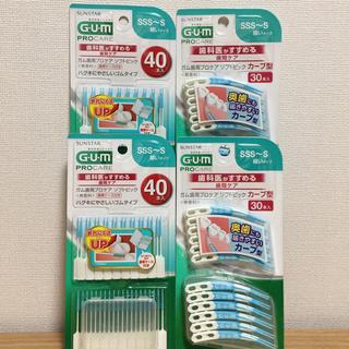 サンスター(SUNSTAR)のガム(G・U・M)歯周プロケアソフトピック40本入2個+カーブ型30本入2個(歯ブラシ/デンタルフロス)