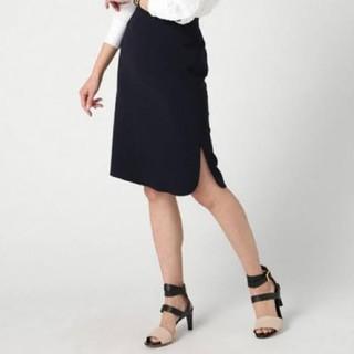 ドゥーズィエムクラス(DEUXIEME CLASSE)のMUSEドゥーズィエムクラス☆人気トリアセジョーゼットスカート・ホワイト(ひざ丈スカート)