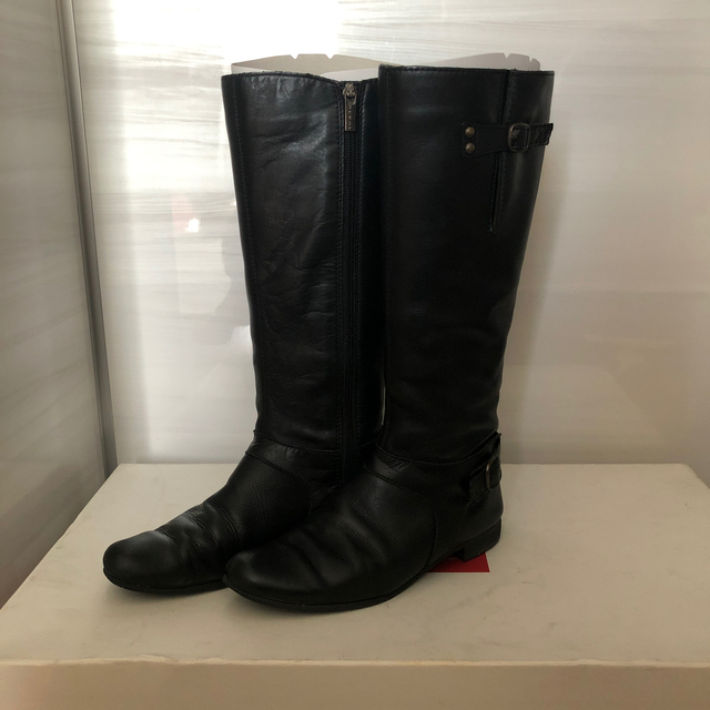 REGAL(リーガル)のREGAL ロングブーツ ジョッキー ローヒール 22cm レディースの靴/シューズ(ブーツ)の商品写真