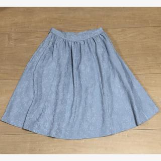 トランテアンソンドゥモード(31 Sons de mode)のトランテアンソンドゥモード*刺繍レーススカート(ひざ丈スカート)
