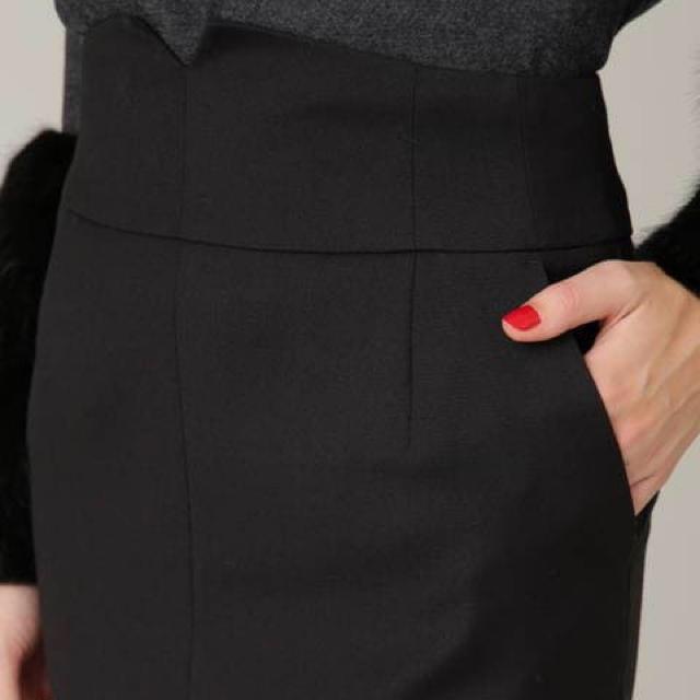 Pinky&Dianne(ピンキーアンドダイアン)のピンキーアンドダイアン スカート  ブラック レディースのワンピース(ひざ丈ワンピース)の商品写真