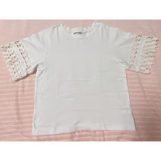 ミュベールワーク(MUVEIL WORK)のMuveil Work 星レーススリーブTシャツ(Tシャツ(半袖/袖なし))