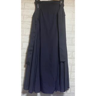 snidel - スナイデル SNIDEL スイッチングスカート NAVY 1 美品