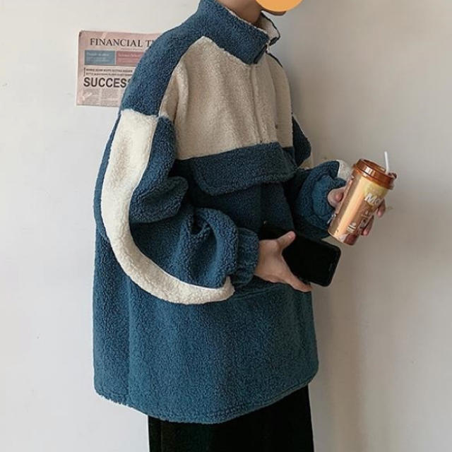 HARE(ハレ)のハレ カップルウェア 韓国 コート ブラック ブルー メンズのジャケット/アウター(その他)の商品写真