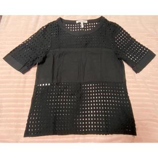 ビーシービージーマックスアズリア(BCBGMAXAZRIA)のBCBG Generation ブラック シースルーT(シャツ/ブラウス(半袖/袖なし))