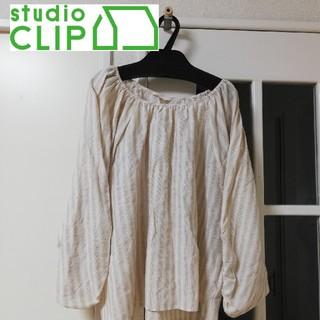 スタディオクリップ(STUDIO CLIP)の新品タグなし studioClip 七分丈 ブラウス  Mサイズ(シャツ/ブラウス(長袖/七分))