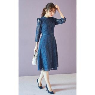 tocco - 新品トッコ着る人を美しく際立たせるフリル付きフラワーレースワンピースブラミス