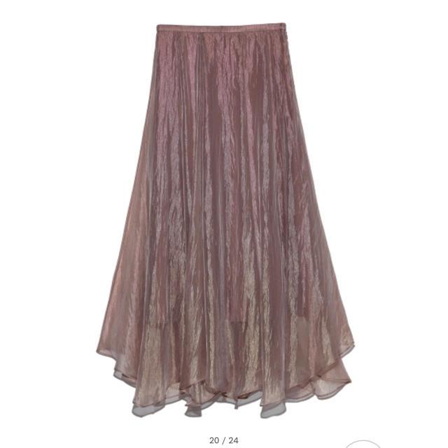 snidel(スナイデル)のsnidel シアーフレアスカート レディースのスカート(ロングスカート)の商品写真