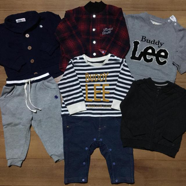 babyGAP(ベビーギャップ)の男の子80サイズ6点まとめ売り! キッズ/ベビー/マタニティのベビー服(~85cm)(ロンパース)の商品写真