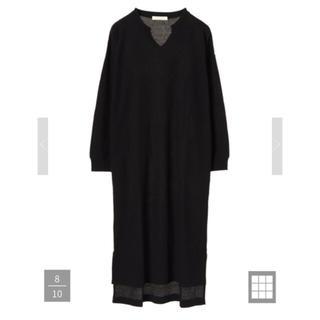 ショコラフィネローブ(chocol raffine robe)のワッフルロングワンピース(ロングワンピース/マキシワンピース)