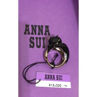 アナスイ(ANNA SUI)のANNA SUI 黒猫 リング 眠り猫 新品タグ付き(リング(指輪))