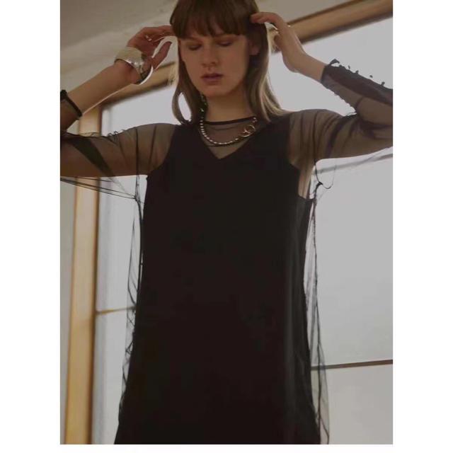Ameri VINTAGE(アメリヴィンテージ)のアメリヴィンテージAmeri TULLE DOCKING DRESS レディースのワンピース(ロングワンピース/マキシワンピース)の商品写真