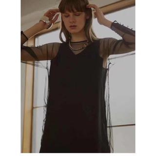 Ameri VINTAGE - アメリヴィンテージAmeri TULLE DOCKING DRESS