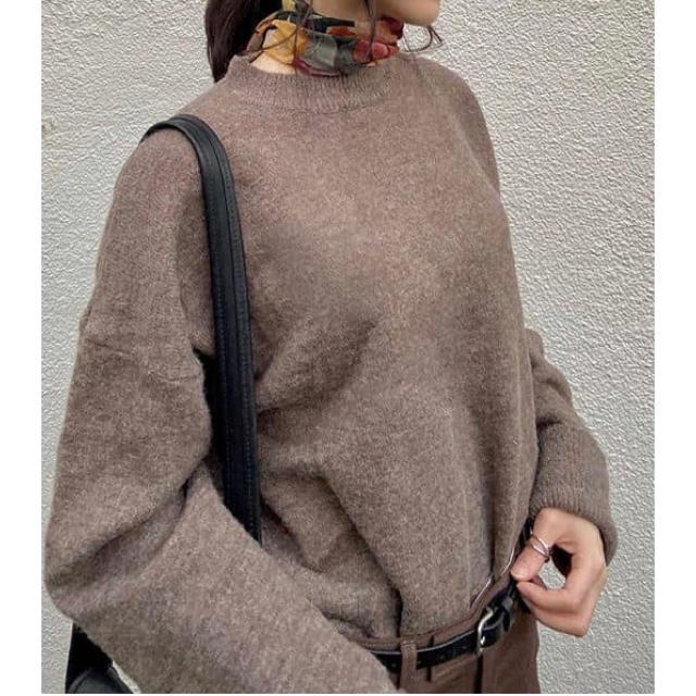 fifth(フィフス)の【新品・タグ付】サイドスリットロールアップスリーブニット レディースのトップス(ニット/セーター)の商品写真