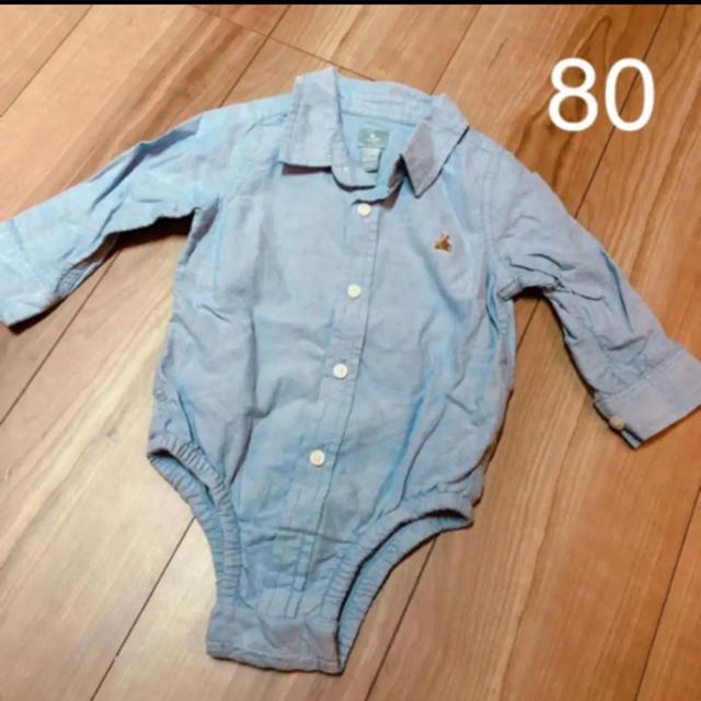 babyGAP(ベビーギャップ)のbabyGap シャツロンパース ボディオール キッズ/ベビー/マタニティのベビー服(~85cm)(ロンパース)の商品写真