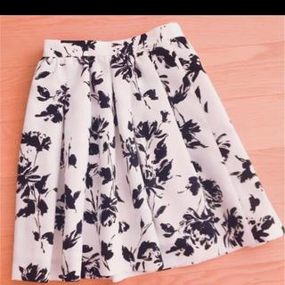 トランテアンソンドゥモード(31 Sons de mode)の花柄フレアスカート♡31 Sons de mode(ひざ丈スカート)