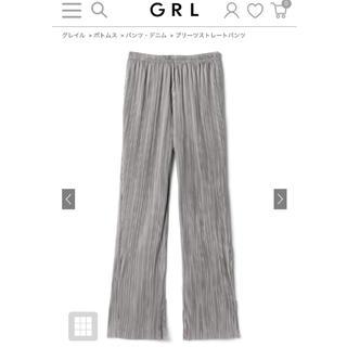 GRL - グレイル GRL プリーツストレートパンツ[tw918]