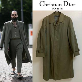 クリスチャンディオール(Christian Dior)のChristian Dior PARIS VINTAGE ステンカラーコート M(ステンカラーコート)
