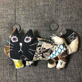 ミナペルホネン(mina perhonen)のミナペルホネン 黒猫さん ぬいぐるみ ハンドメイド(ぬいぐるみ)