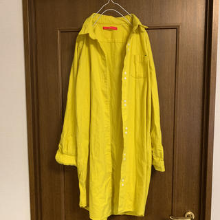 グラニフ(Design Tshirts Store graniph)のグラニフ  レモンイエロー コットンロングシャツワンピース コットンジャケット(シャツ/ブラウス(長袖/七分))