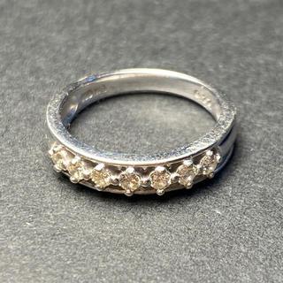 ヨンドシー(4℃)のMilluflora 0.17ct K10 WG ダイヤモンドリング 5号(リング(指輪))