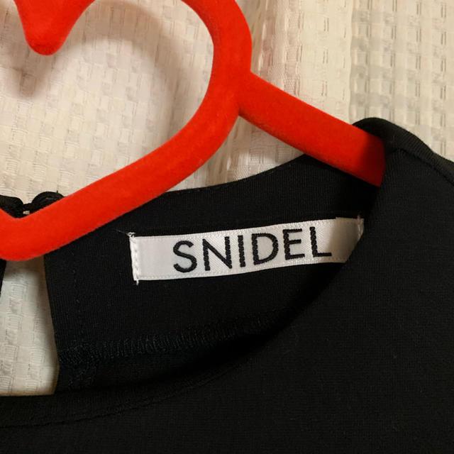 snidel(スナイデル)のsnidel★スナイデル Aラインフリルワンピース   黒 ブラック  レディースのワンピース(ひざ丈ワンピース)の商品写真