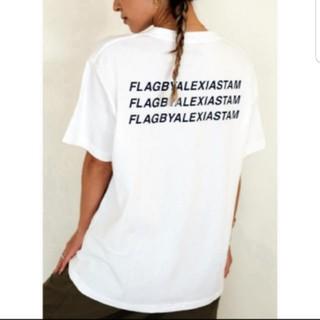 ALEXIA STAM - アリシアスタン フラッグバイ Tシャツ