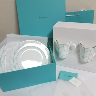 Tiffany & Co. - ティファニー ウィートリーフ マグカップ プレート ギフトセット