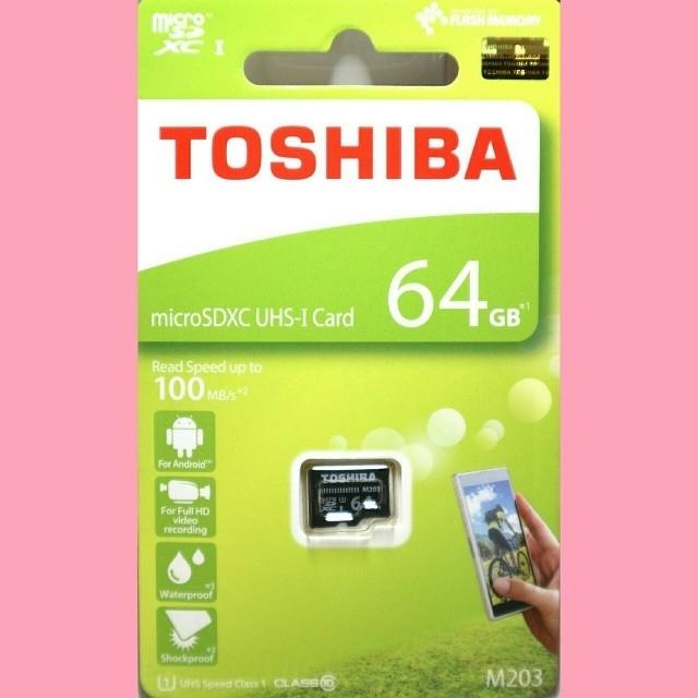 東芝(トウシバ)の東芝 microSDカード 64GB マイクロSD スマホ/家電/カメラのスマートフォン/携帯電話(その他)の商品写真