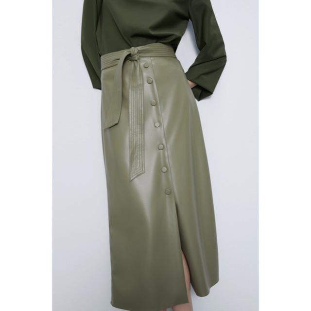 ZARA(ザラ)のレザーロングスカート レディースのスカート(ロングスカート)の商品写真