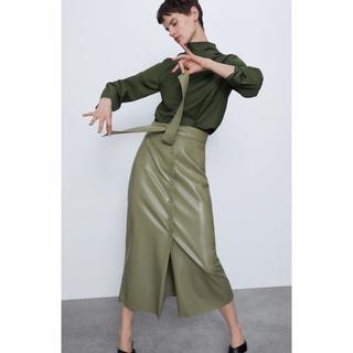 ZARA - レザースカート