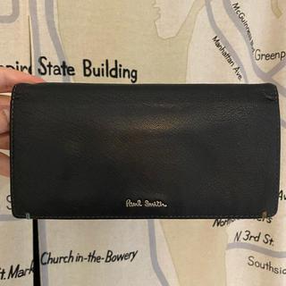 ポールスミス(Paul Smith)のポールスミス ダブルステッチ  山羊革 長財布 ブラック(長財布)