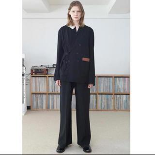 サンシー(SUNSEA)のSUNSEA 20ssSNM-Blue2 Wide Straight Pants(スラックス)