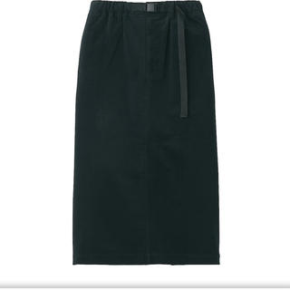 MUJI (無印良品) - 無印良品 ニットコーデュロイスカート 婦人XS-S 黒