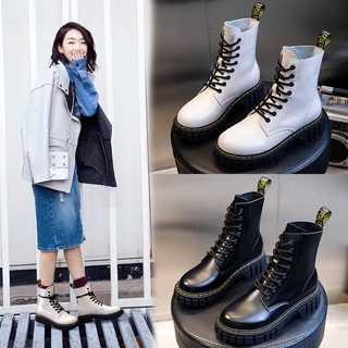 マーティンブーツ本革レディース秋冬歩きやすい6650(ブーツ)