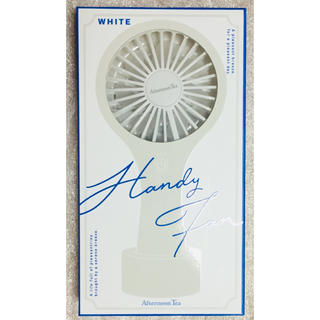 アフタヌーンティー(AfternoonTea)のAfternoonTea アフタヌーンティー  ミニハンディファン ホワイト(扇風機)