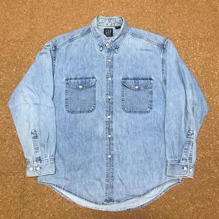 ギャップ(GAP)の90s オールドギャップ デニムシャツ カナダ製 ビンテージ 古着 ジーンズ(シャツ)