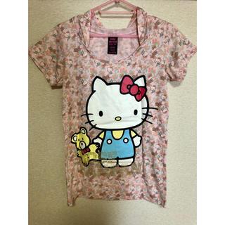 サンリオ(サンリオ)のHELLO KITTY フラワー パーカー Tシャツ (Tシャツ(半袖/袖なし))