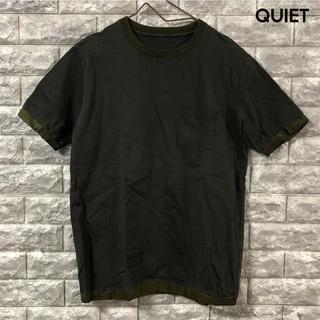 ユナイテッドトーキョー サイズ2 リブ付き ポケット Tシャツ カーキ(Tシャツ/カットソー(半袖/袖なし))