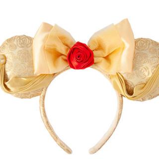Disney - ディズニー 新エリア グッズ カチューシャ 美女と野獣 ベル バラ