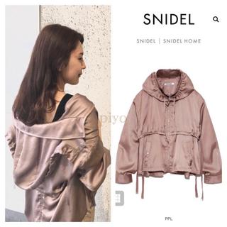 snidel - 新品タグ付き スナイデル snidel フーディ ジャケット パープル 秋 完売