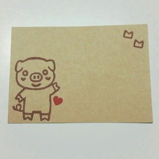 メッセージカード  ブタちゃん  40枚(カード/レター/ラッピング)