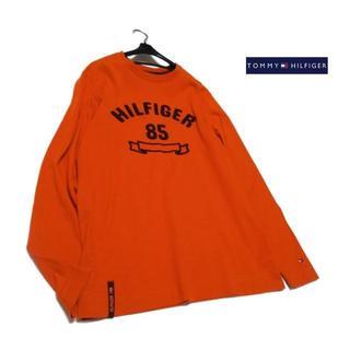 トミーヒルフィガー(TOMMY HILFIGER)の●トミーヒルフィガー● メンズS(大きめ) 胸ボアロゴ長袖シャツ(Tシャツ/カットソー(七分/長袖))